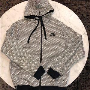 Nike Air black & white printed zip hoodie